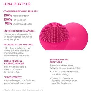 foreo Makeup - 🆕NEW✨ Foreo LUNA Play Plus in FUCHSIA